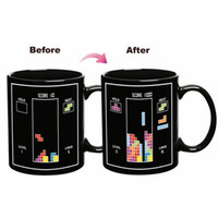 Wholesale tetris block for sale - Group buy Tetris Color Change Cup Magic Ceramic Mug Cartoon Building Blocks Mugs Kids Birthday Present For Home High Quality yr