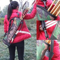 Camo Arrow Waist Back Pot Bag Bow Quiver Tiro con l'arco W / Pocket caccia regolabile