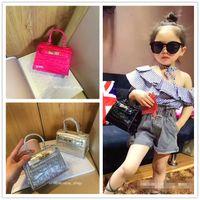 Wholesale Toddler Leather Bag - Hot Fashion Kid Bag Girl Mini PU Leather Handbag New Kids Tote Bag Stylish Girls Shoulder bag Children Designer Purse Toddler Purses CM066