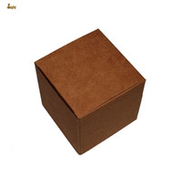 Wholesale Cute Cosmetic Packaging - 50pcs lot 6x6x6cm cute small beautiful carton Jewelry Box kraft paper packaging boxes Cosmetics boxes valve tubes packing box