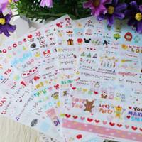 kawaii telefon çıkartmaları toptan satış-Toptan-PVC Sticker DIY Scrapbooking Günlüğü Telefon Sticker Için Kawaii Kırtasiye Okul Malzemeleri