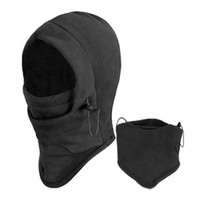 spring stopper - New Arrival Face Mask Thermal Fleece Balaclava Hood Swat Ski Bike Wind Winter Stopper Beanies Out Door Sports CC0013