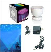Wholesale Motion Wave - Led Night Lights Indoor Colorfu Projector Ocean Daren Waves Aurora Master Projection USB Light Lamp With Speaker Novelty Sleep lighting