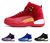 Wholesale Cycling Winter Wool - Air Retro 12 XII wool mens Basketball Shoes ,wool black Royal Blue retro 12s Velvet Heiress high quality sports shoes sneakers eur 36-47
