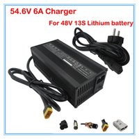 Wholesale E Scooter Charger - 48V 5A Ouput 54.6V 5A charger XT60 Port Used for 48V 13S Lithium battery e-scooter battery charger free shipping
