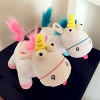 Wholesale Despicable Plush Toys Unicorn - 161154 Doll Plush Of Despicable Me Agnes favorite unicorn Plush Toys Pink And Blue Size 30cm Free Shipping
