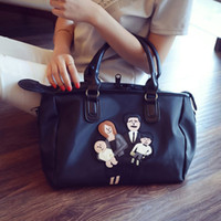 Wholesale Boston Bag Mens - Wholesale-CHICHI Famous Brand Designer Women Handbags Large Ladies Tote Bag 2016 Black Print Leather Waterproof Messenger Travel Bags Mens
