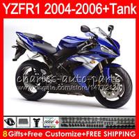 ingrosso yzf r1 blu-8Gift 23Color Body Per YAMAHA YZF1000 YZFR1 04 05 06 YZF-R1000 Stock blue 58HM5 YZF R 1 YZF 1000 YZF-R1 YZF R1 2004 2005 2006 Kit carenatura