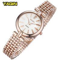 Wholesale Yaqin Quartz - Brand YaQin Watch Luxury Bracelet Watches Original Women Quartz-Watch Rose Glod Casual Clock Ladies Summer Hot
