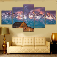 Wholesale High Grade Oil Paints - Hot Selling High-grade art micro spray home restaurant immovable oil painting landscape painting core sitting room porch motains