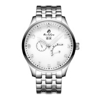 Wholesale Mens Large Dial Watch - Mens Automatic Mechanical Watch Stainless steel large dial indicator solid stainless steel watch business calendar energy Waterproof watch