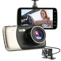 "Wholesale Auto Dash Cameras - 2017 New 4"" Mini Car DVR Dual Lens Video Recorder Parking Car Camera Full HD 1080P WDR Dash Cam Night Vision Auto Black Box"