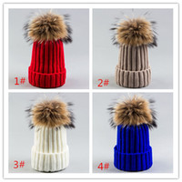 Wholesale Strip Caps - 2017 high quality new strip knitted hat, pointed cap, 18CM fur wool hat wholesale DHL free shipping