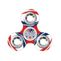 Plastique de football Prix-Equipe de football Fidget Spinner Plastique Football américain Tri-spinner Famous Soccer Team Logo EDC Anti-stress Fidget Spinners Toy