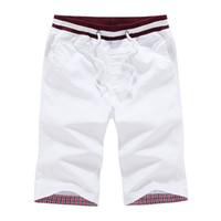Wholesale Mens Beach Shorts Wholesale - Wholesale- Newest Summer Casual Beach Shorts Mens Cotton Fashion Style Shorts Bermuda Beach Black Shorts Plus Size Short For Male