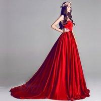 robes de soirée en tulle elie saab achat en gros de-Haute qualité Elie saab satin de soie bordeaux robes de soirée 2017 livraison gratuite parole longueur robes de soirée