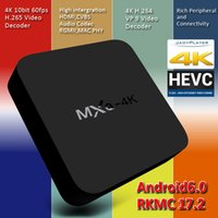 Wholesale Hd Media Player Remote Control - MXQ 4K Smart Boxes Android 6.0 RK3229 H.265 4K 60tps Support HD Media Player Android TV Box Remote Control vs MXQ