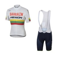 Wholesale Uci Bib Cycling - 2017 uci world pro tour team bahrain merida cycling jersey short sleeve Racing Bicycle ropa ciclismo men summer bike cloth bib pants gel pad