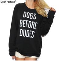 sudaderas perro negro al por mayor-Venta al por mayor - Negro Impreso