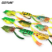 Wholesale frog lures resale online - Goture Soft Fishing Lure Artificial Frog Lure Cm G Crankbait Topwater Fishing Bait With Sharp Hooks For Fishing