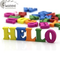 Wholesale Wholesale Wooden Wood Letters - Wholesale- WEEDDIE 100pcs Home Decoration Wood Wooden Letter Alphabet Word Free Standing Scrapbooking Carft for decoration Diy