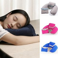 Wholesale Inflatables Business - 4 Colors New Portable Folding Inflatable Neck Air Cushion U Shape Pillow Neck Travel Pillow Comfortable Business Trip Pillow IB210