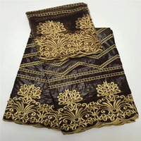 Wholesale High Quality Brocade - African bazin riche fabric brown high quality african bazin riche getzner 5yards brocade bazin riche fabric guinea YJ47-16