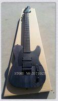 ingrosso ebano nero stringa-Chitarra elettrica della tastiera dell'ebano del collo nero di un pezzo delle corde della chitarra elettrica nera di 7 corde dalla Cina Chitarra dell'OEM CALDO