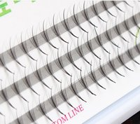 Wholesale Volume Hair Styles - 8 10 12mm Volume 5D Eyelash Extensions 0.05mm Thickness Hair Mink Strip Eyelashes Individual Lashes Fans Lash Natural Style