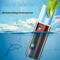 Wholesale Mist Vaporizer - New USB Charge MKS NV8028 Mini Portable Nano Cool Mist Facial Sprayer Moisturizing Instrument Facial Moisturizer Steamer Face Vaporizer