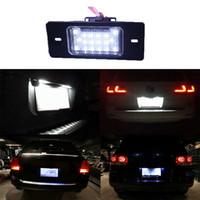Wholesale Vw Tiguan Led - Error Free 18 3528 LED License Plate Light Lamp For VW Touareg Tiguan Golf Passat Porsche Cayenne 955 957 Audi TT