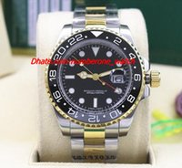 Wholesale Ii Tone - Factory Fashion NEW II 2 TONE 116719 Black Ceramic Bezel Automatic Mechanical Men Watches Top Quality