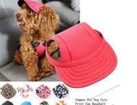 Wholesale Pet Dog Hats - Summer Pet Dog Cute Print Cap Baseball Hat Small Dog Outdoor Hat fallinlovers
