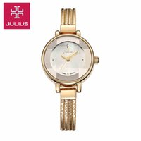 Wholesale Best Memorials - Julius Lady Woman Wrist Watch Quartz Hours Best Fashion Dress Chain Bracelet Band Snake Tassels Girl Birthday Memorial Gift