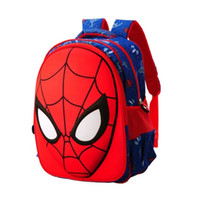 Wholesale Spiderman School Bags - Outnice Brand Superman Spiderman Orthopedic Backpack Anime Primary School Bags For Boys High Quality Children Bookbag Wholesale