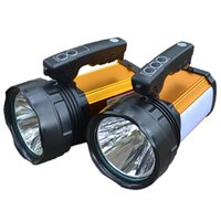 Wholesale Hunting Light Bulbs - Wholesale-30W 60w Portable lantern Led camping outdoor hunting light rechargeable waterproof lamp with charger 5000ma battery