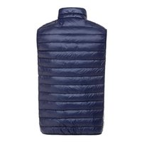Wholesale Puff Vests - Fall-2015 Men's Ultra Light Down Double Sided Zipper Puff Gilet Vests Jackets Waistcoat Winter Jackets 5 Colors
