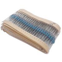 Wholesale resistor values - Wholesale- F019-01 Free Shipping 1000 Pcs 1.5K-18K 1 4W 1% 20 Kinds Each Value 50pcs Metal Film Resistor Assortment Kit Set pack
