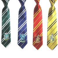 Fashion New 4 colori Harry Potter Tie pottor Abbigliamento Accessori Borboleta Cravatta College Style Cravatta Harry Gryffindor Series Tiestyle Gift