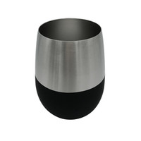 Wholesale Yellow Spray Paint - Wholesale- 13oz Spray Painting Stainless Steel Stemless Wine And Cocktail Glasses 2017 Kitchen Bar Festival cups supply