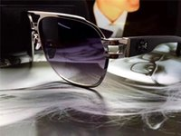 Wholesale Black Chrome Wrap - New Brand Designer Sunglasses Chrome New York Designer Sunglasses Classic Metal Frame Wooden Legs Simple and generous style CRH THE BROWN