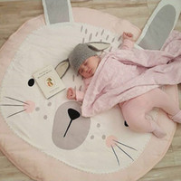 Wholesale Size Play Mats - Speelmat Play Mat Bunny Rug Bear Newborn Photography Props Wrap Rabbit Baby Blanket Children's Room Decoration Tapete Infantil 2109091
