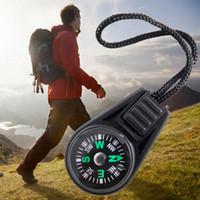 Wholesale Camp Navigator - Wholesale-Mini Pocket Compass Navigator for Camping Caving Hiking Hiker with Sling Lanyard