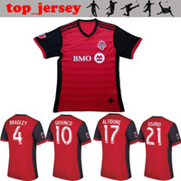 Wholesale Homes Toronto - Toronto FC Soccer jersey Thai quality 2017 BRADLEY GIOVINCO OSORIO ALTIDORE jersey 17 18 MLS Toronto home red football shirt