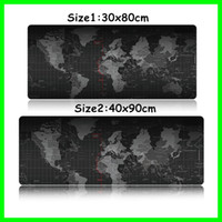 Wholesale Computer Laptop Desk - Useful Large Size World Map Game Mouse Pads Anti Slip Computer Keyboard Mats Laptop Gaming Mousepad Office Desk Mats