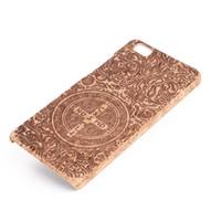 Wholesale wood cork case - U&I ® Brand New Retro Pattern Classical Natural Cork Wood Phone Case for Huawei p8 lite Phone Covers
