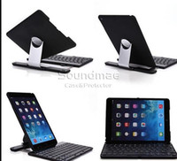 Soundmae K561/K561C  Air 2 Keyboard 360 Degress ABS Plastic Wireless Bluetooth Keyboard Removable Rotates Angles Case For Ipad 5 6 Air 2 Retail Box