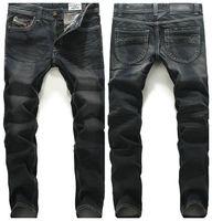 Wholesale Winter Skinny Jeans For Men - Wholesale-2016 HOT sale autumn Wholesale new winter men's cotton Slim small straight black jeans FOR men