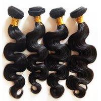 işlenmemiş hazır saç satışı toptan satış-Fabrika Doğrudan Satış Toptan Işlenmemiş Siyah kadınlar Hint remy saç atkı 8-30 inç Vücut Dalga Brzailian Malezya bakire Saç stokta