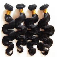 Wholesale Indian Remy Virgin Body Wave - Factory Direct Sale Wholesale Unprocessed Black women Indian remy hair weft 8-30inch Body Wave Brzailian Malaysian virgin Hair in stock